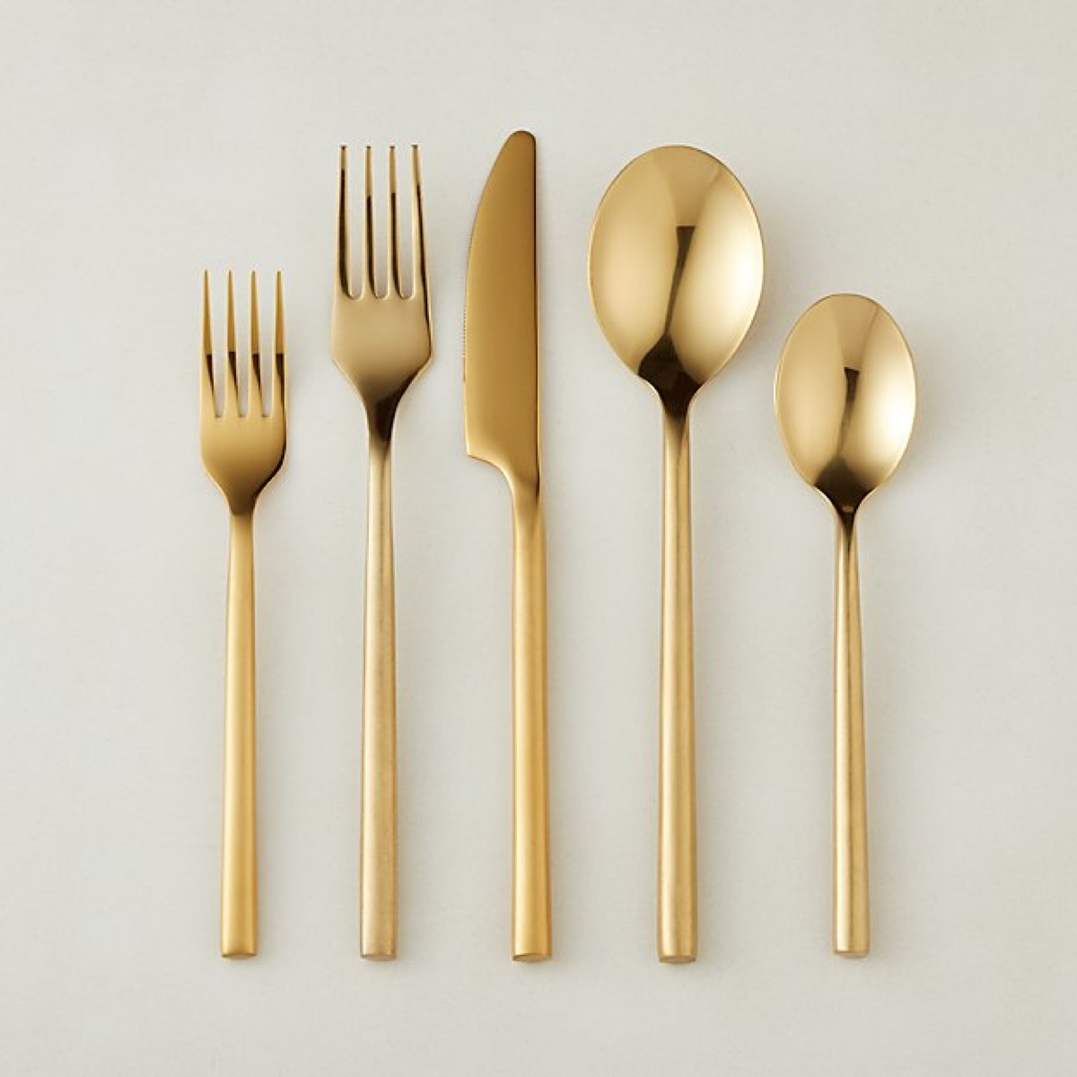 20 piece rush gold flatware
