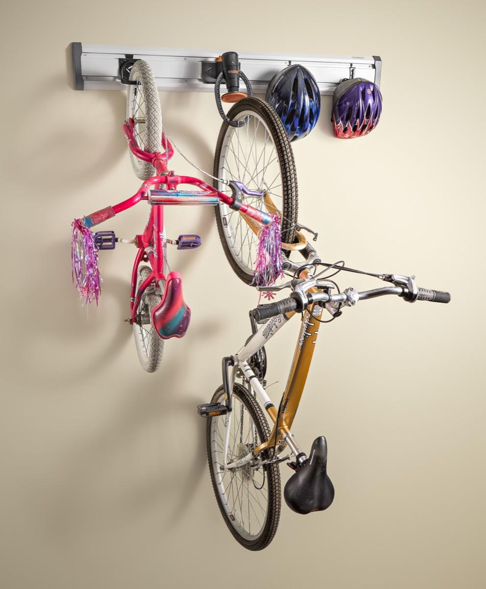 bike rack on wall