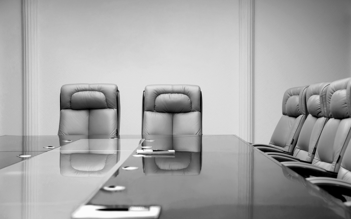 Empty conference room at office