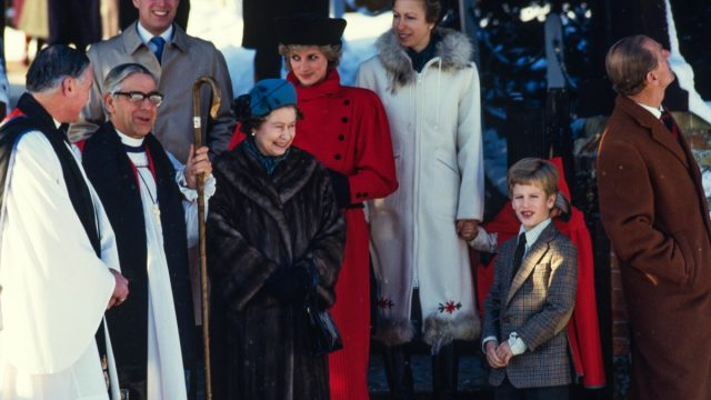 British Royal Family after Christmas services in 1985