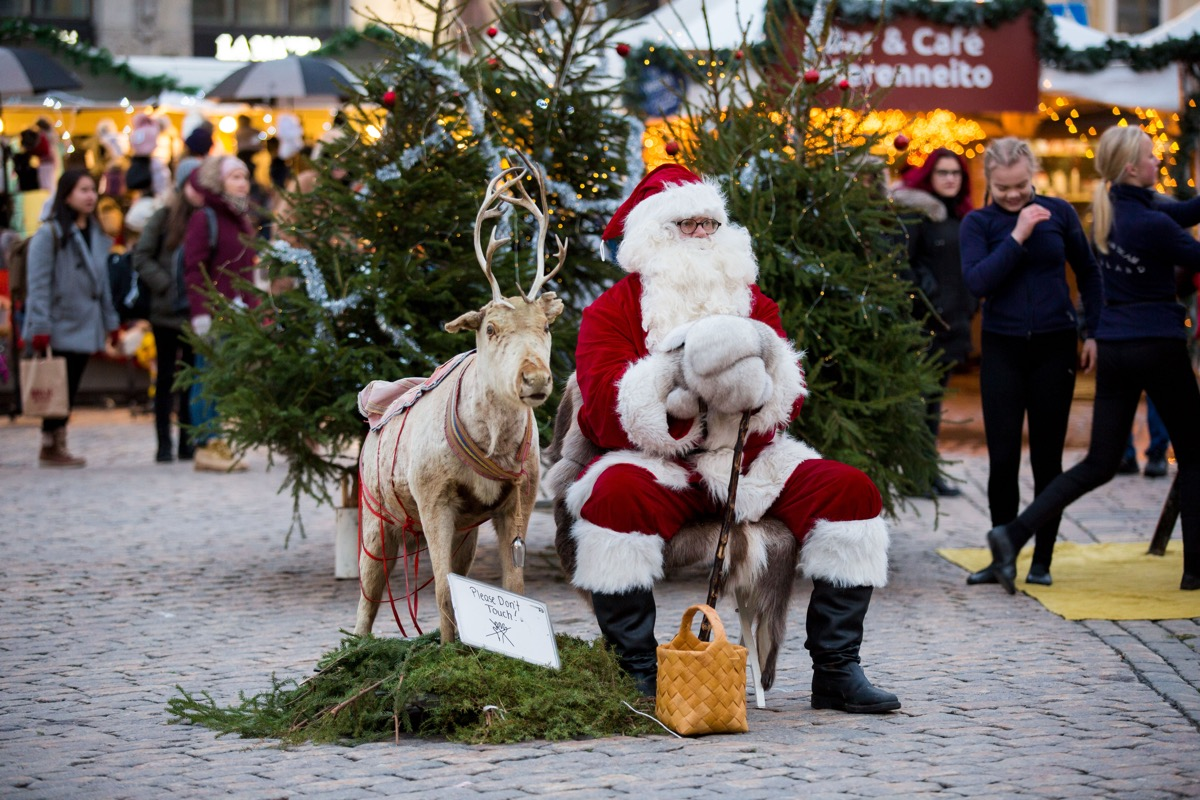 Santa in Helsinki Finland