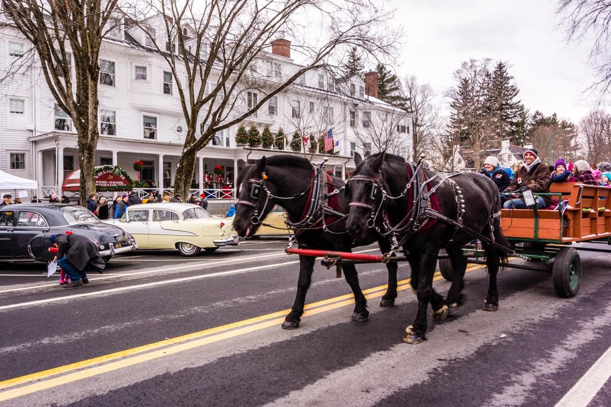 Main Street At Christmas _ Stockbridge, Massachusetts, USA