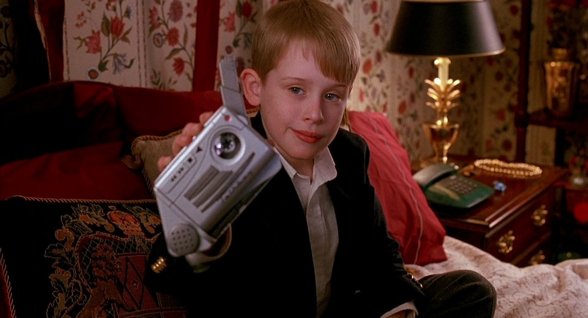 Kevin McAllister with a Talkboy in Home Alone