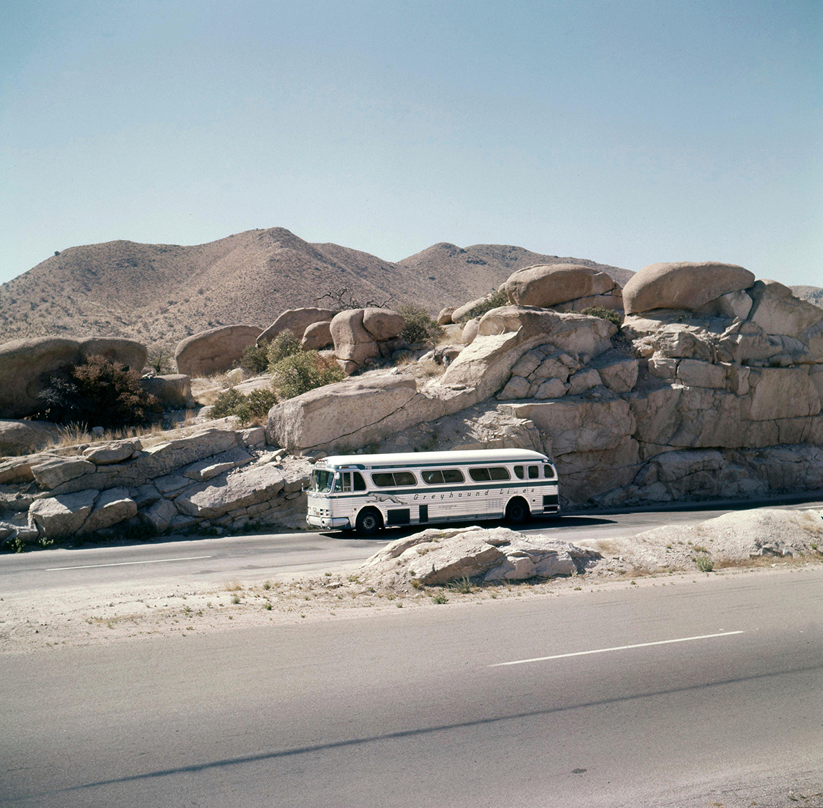a greyhound bus stops in arizona
