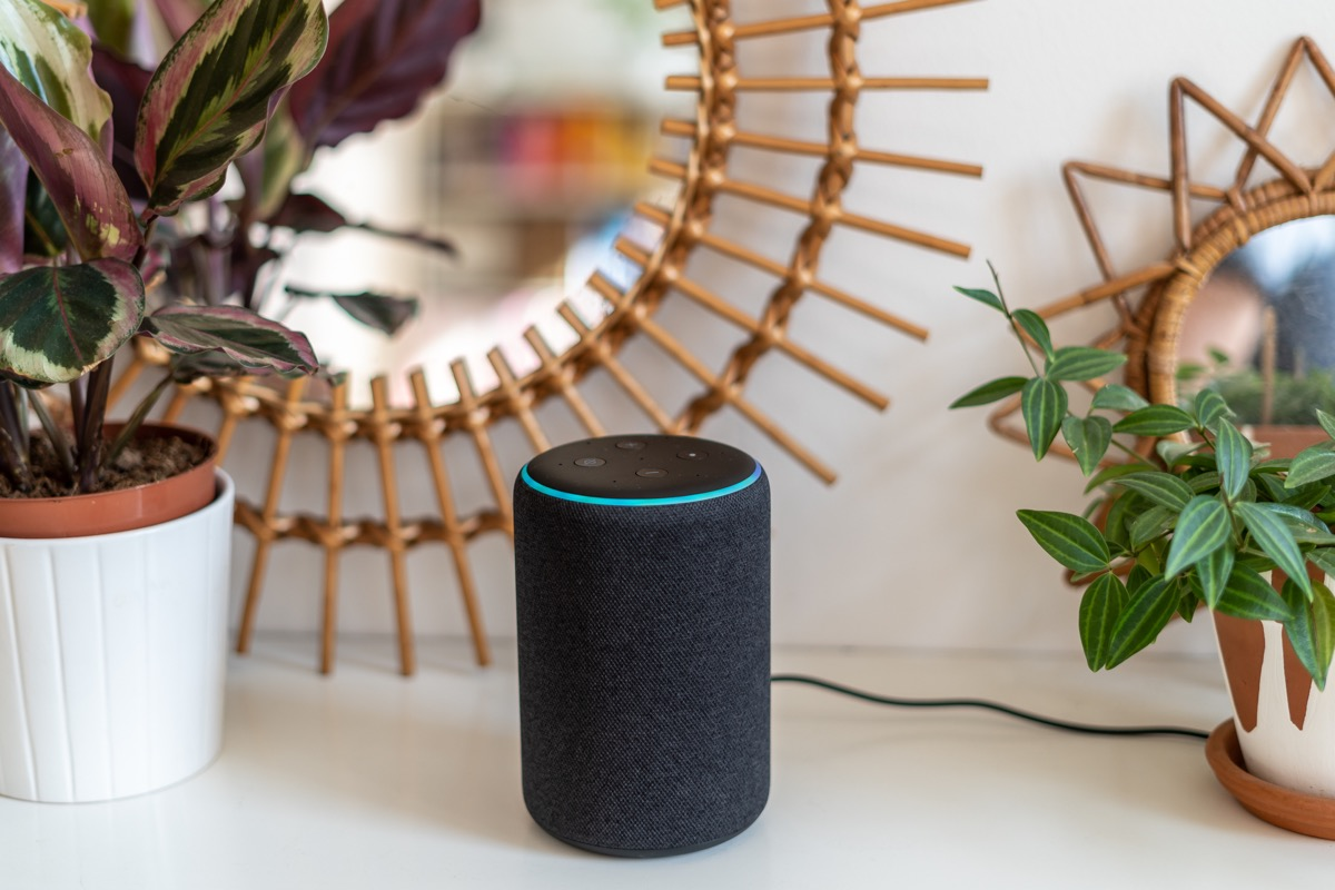 alexa in the home on a tabletop