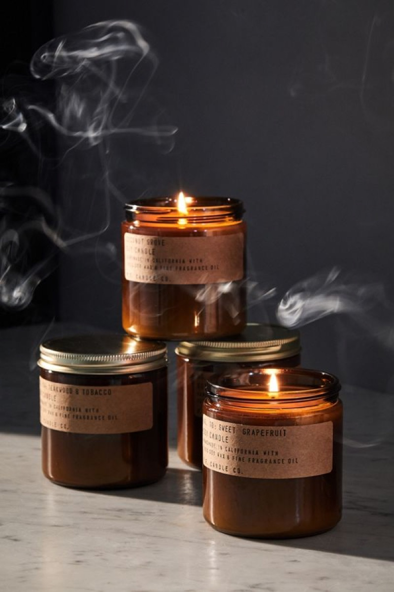 candle co amber jar soy candle