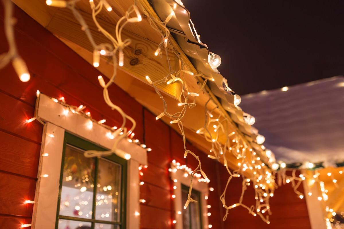 christmas lights outside a house