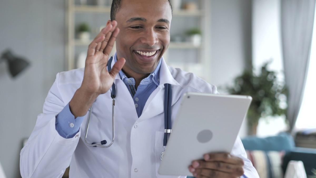 black doctor teleconferences on ipad