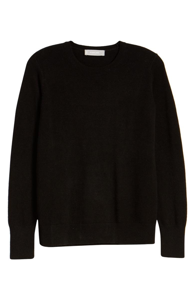 everlane black cashmere crew sweater