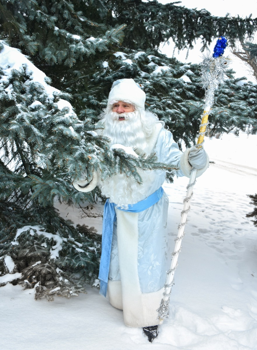 father frost outdoors