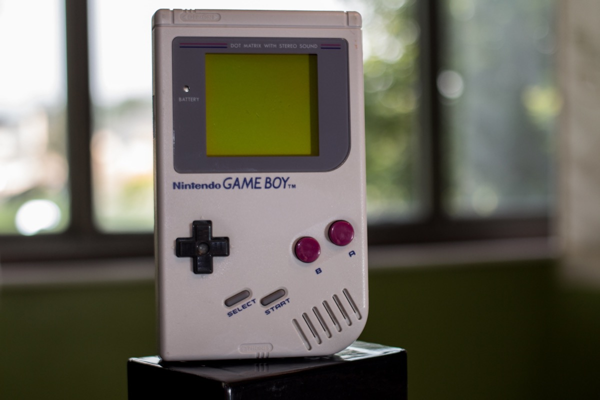 An original game boy from the 1990s
