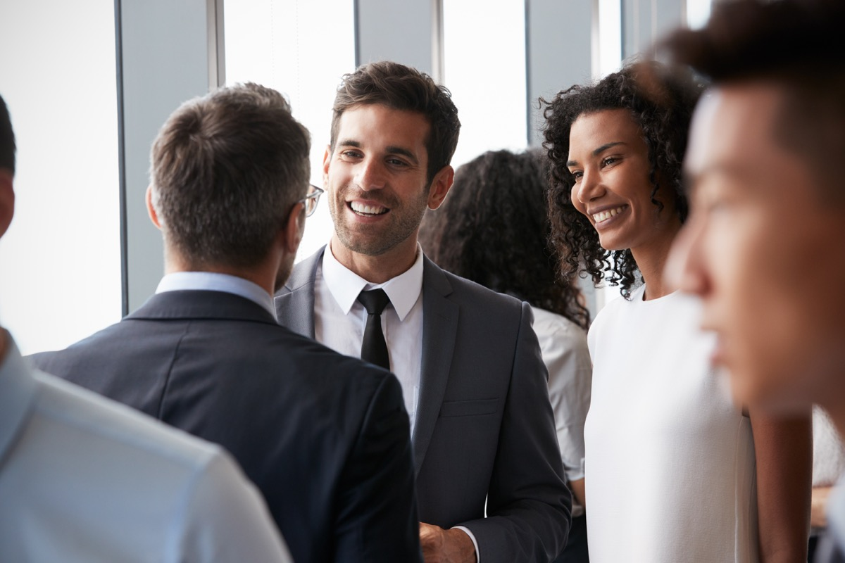 group of people networking