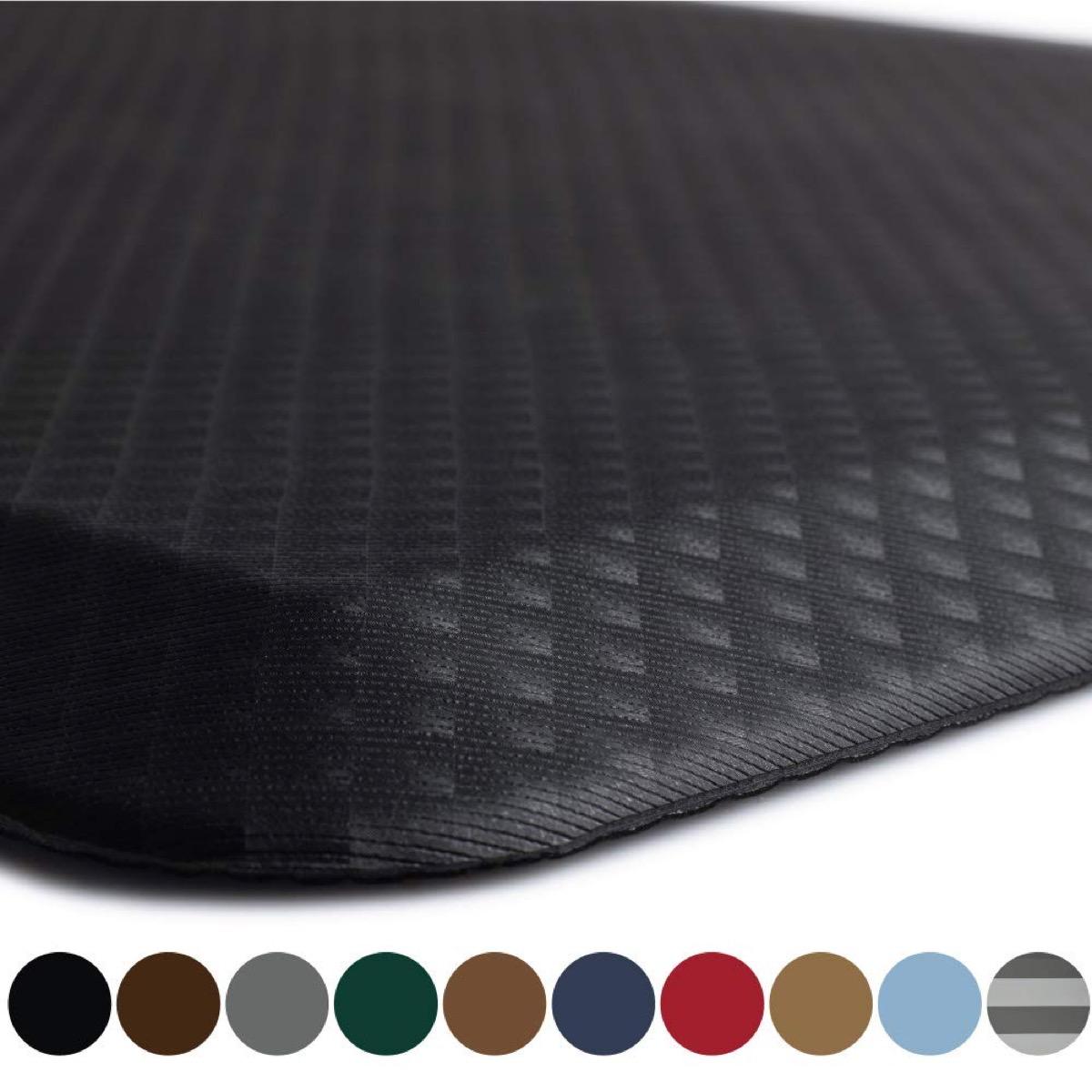kangaroo original standing mat kitchen rug in black