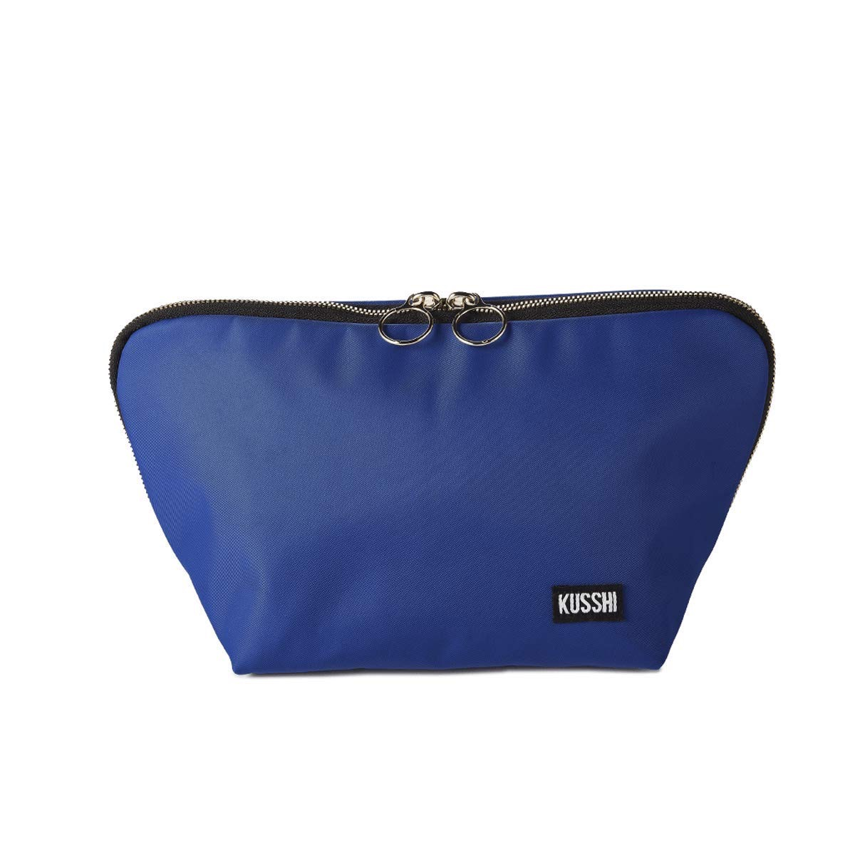 kushi blue travel makeup bag