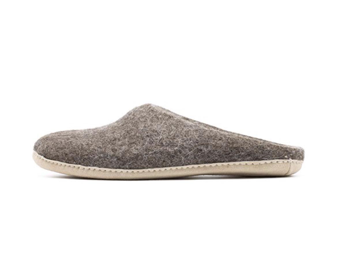 nootkas men's handmade merino wool blend house slipper