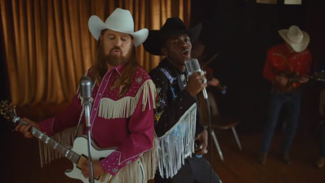 billy ray cyrus and lil nas z in the old town road remix video