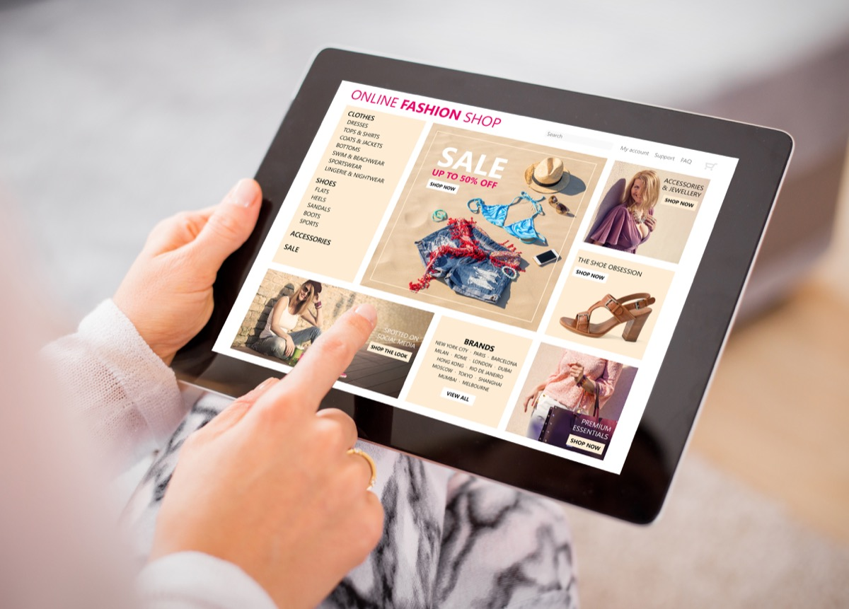 online shopping ads on ipad