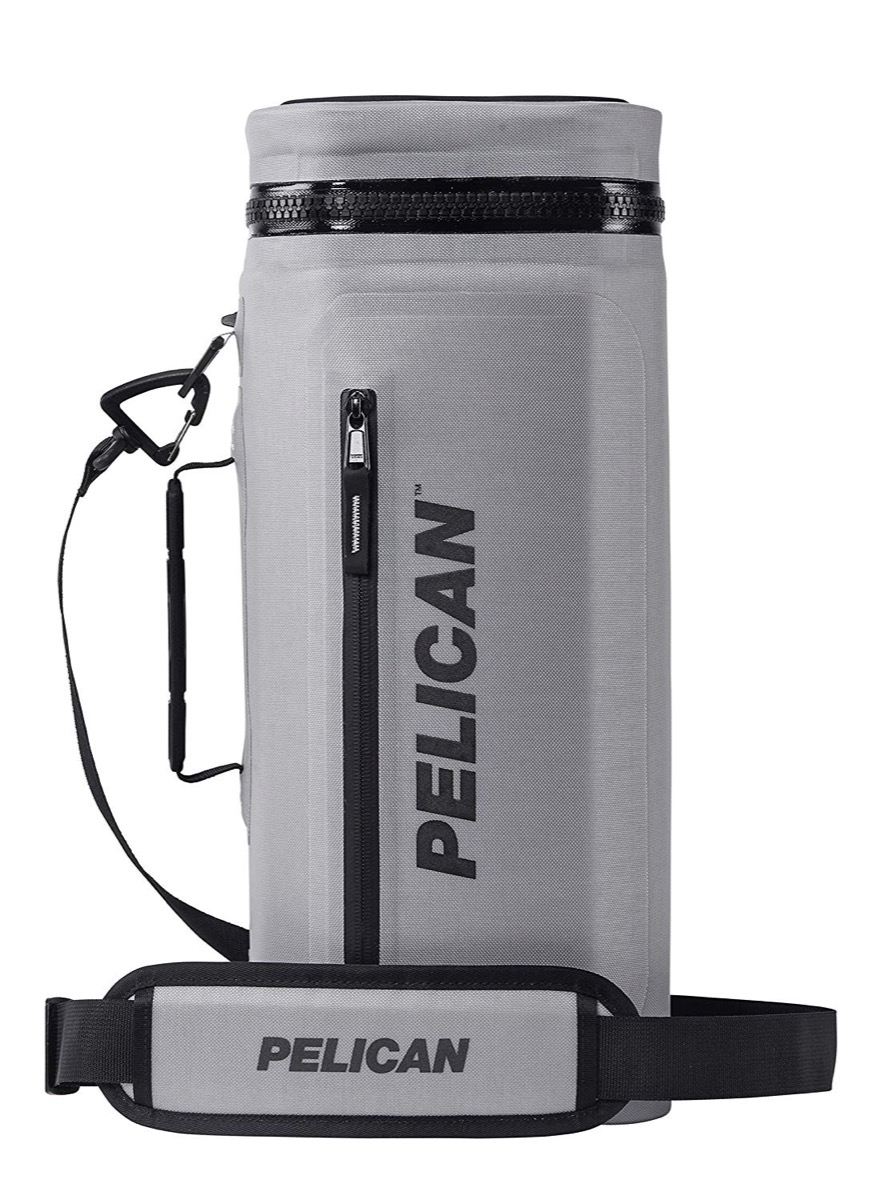 pelican cooler sling in gray and black