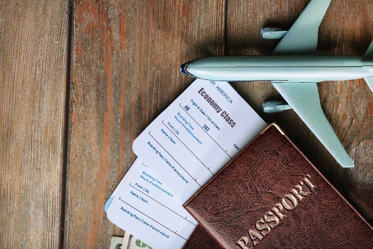 plane tickets in passport