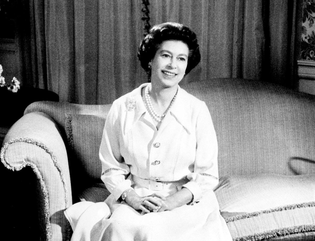 Queen Elizabeth II portrait from Christmas 1976, taken at Buckingham Palace