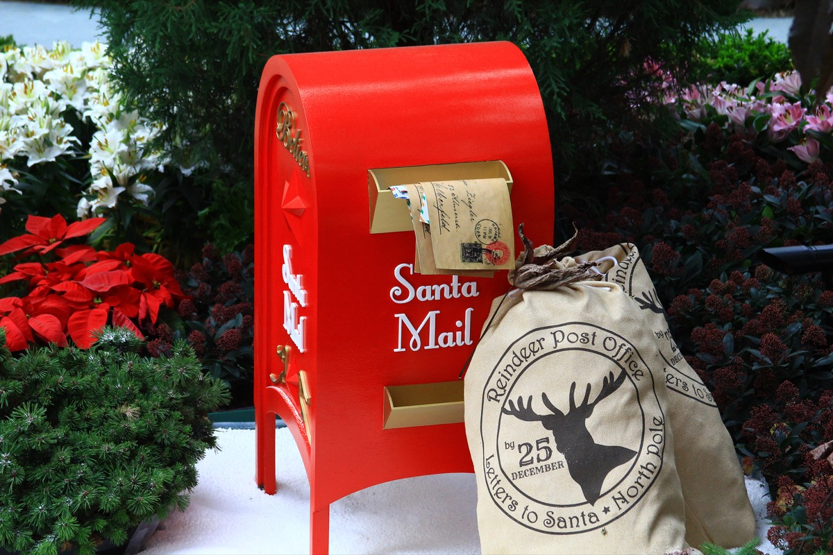 red mailbox for santa