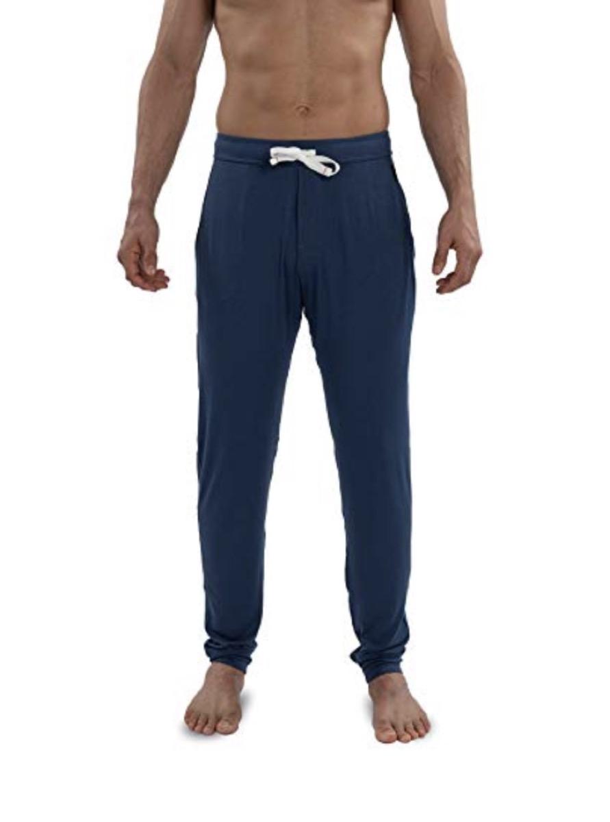 saxx underwear men's snooze lounge pants in navy blue