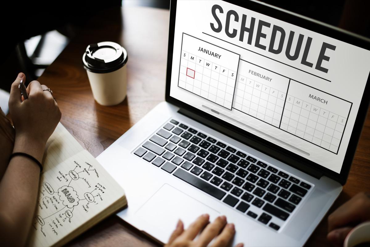 schedule agenda planner concept