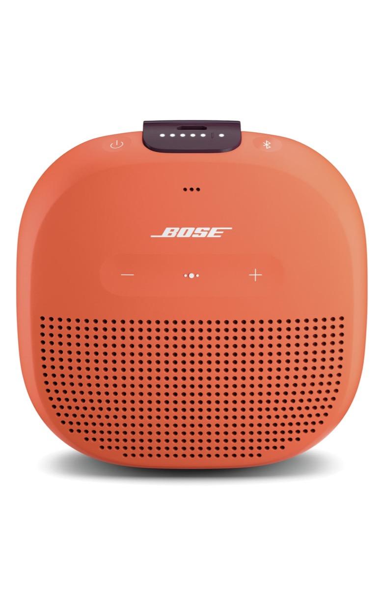orange bose soundlink micro bluetooth speaker