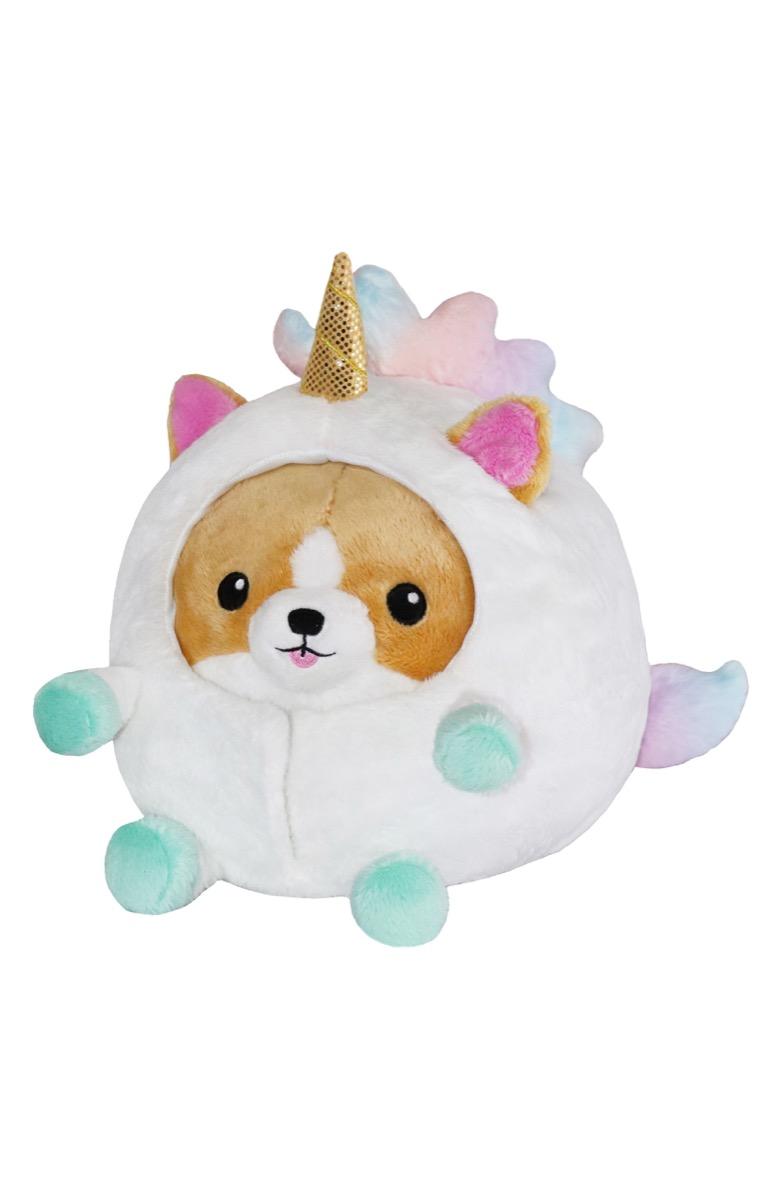 squishable undercover unicorn corgi stuffed animal