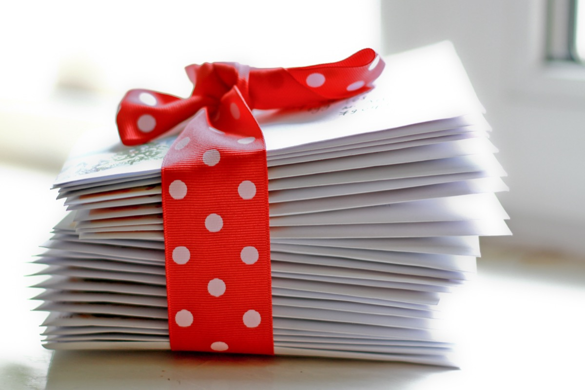 stack of christmas cards