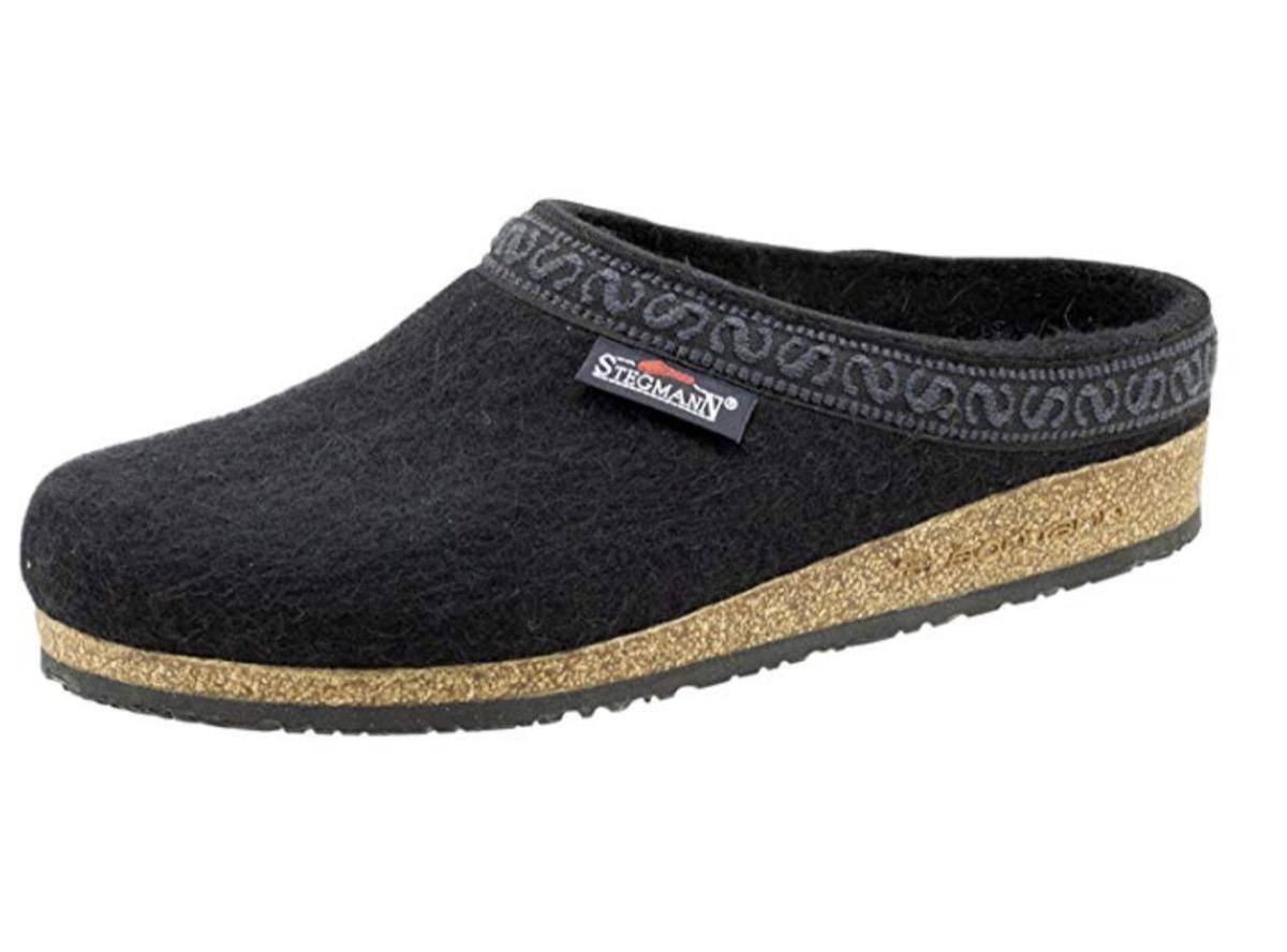 stegmann gray women's wool felt clog