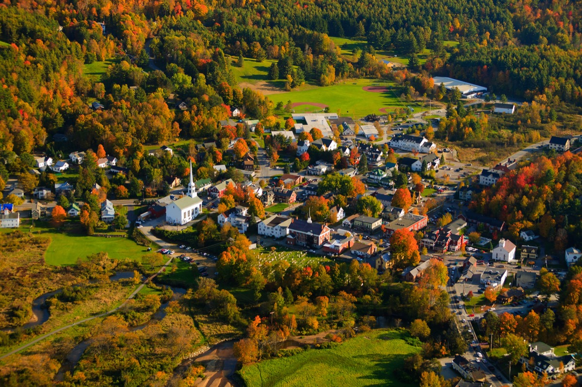 charming town in the fall