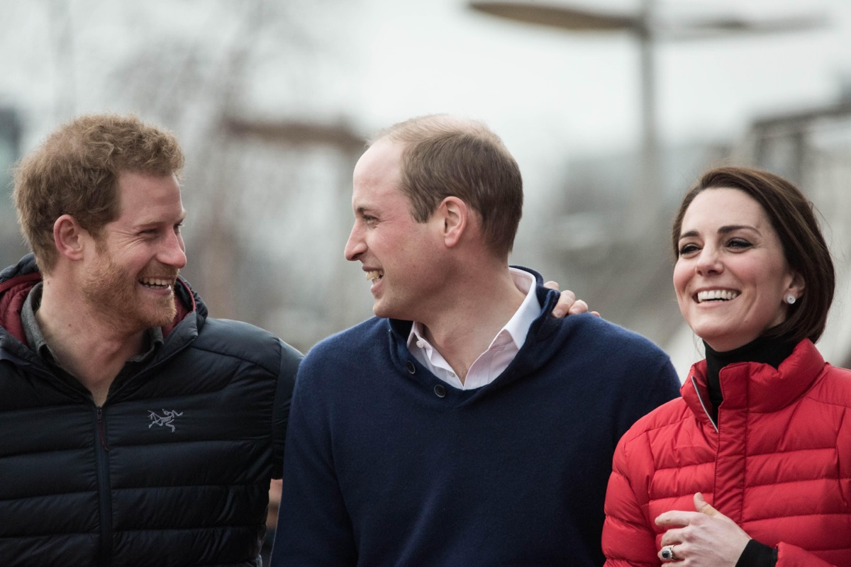 The Duke and Duchess of Cambridge and Prince Harry join a training day at the Queen Elizabeth Olympic Park with the runners taking part in the 2017 London Marathon for Heads Together, the official charity of the year.