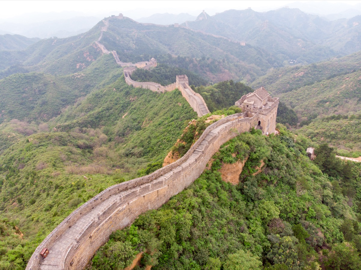 the great wall of china aerial view