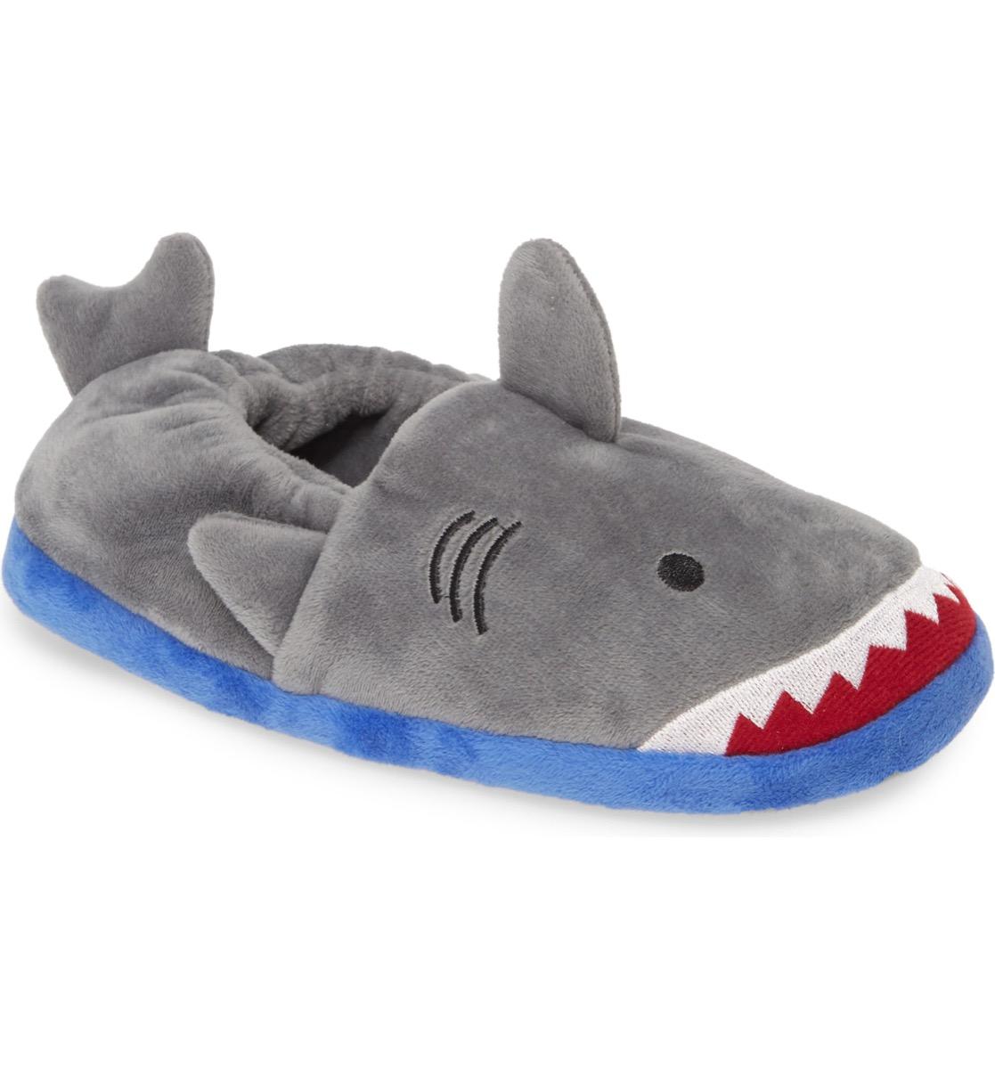 tucker tate fuzzy shark slippers