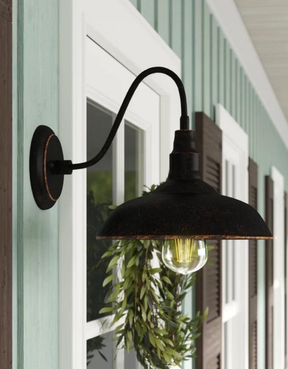 black farmhouse light