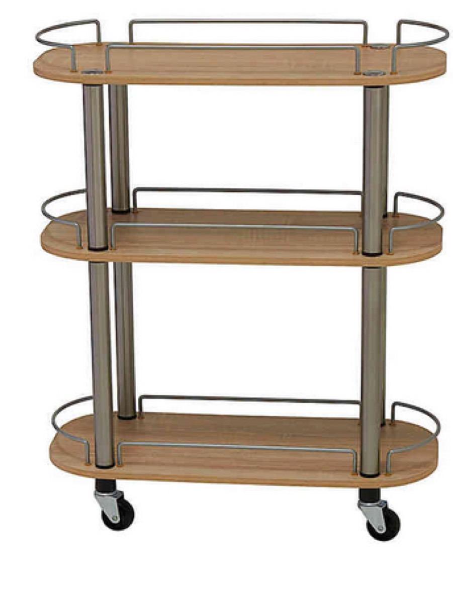 wood utility cart