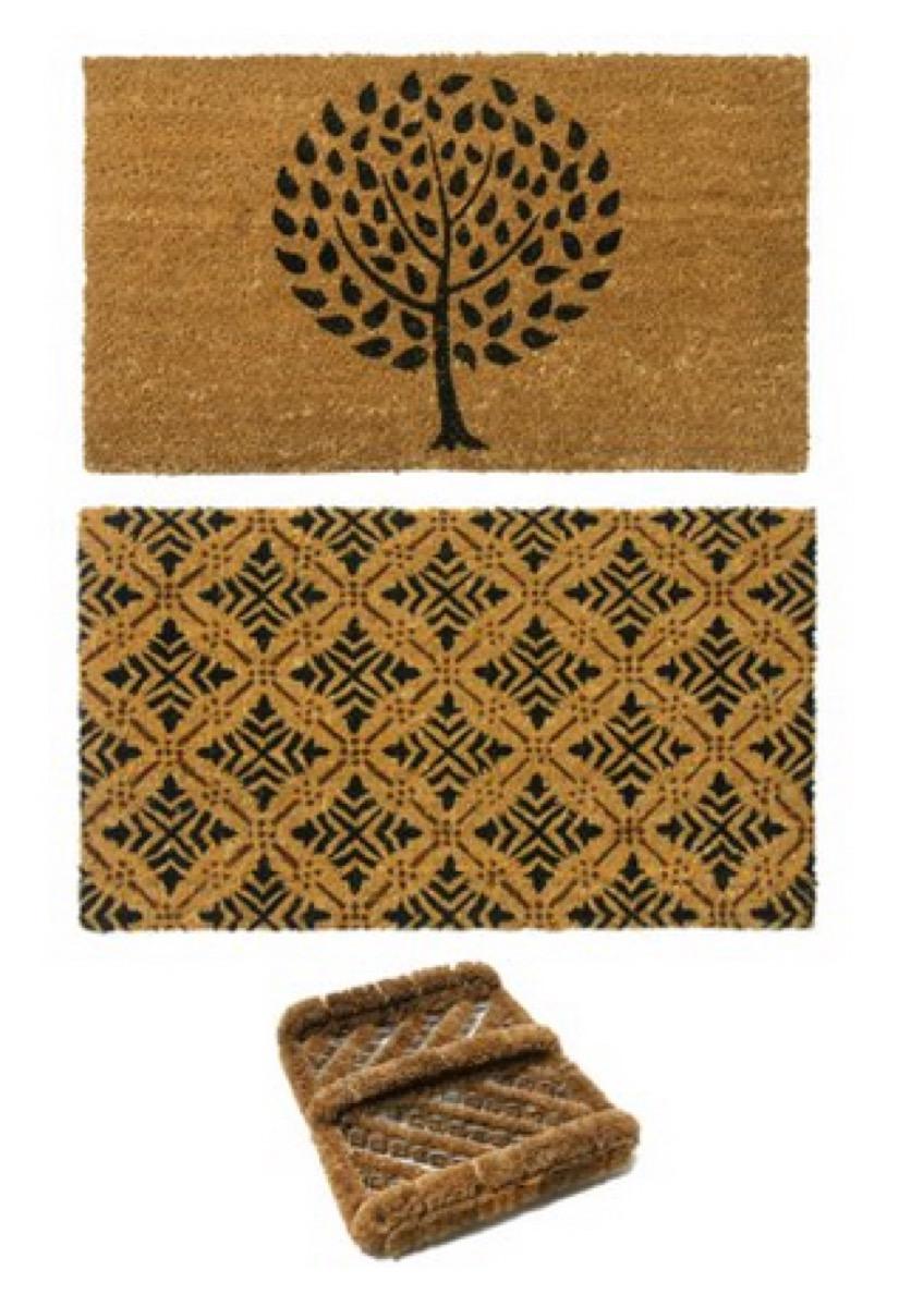 two woven doormats