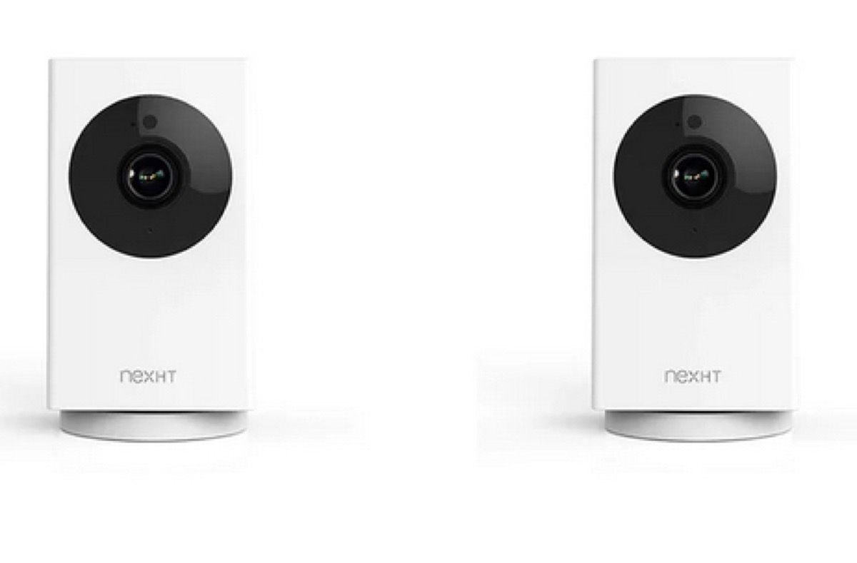 two motion sensors on white background