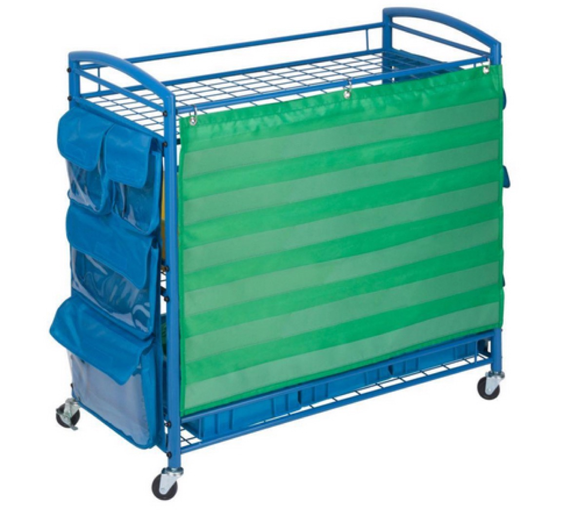 blue and green activity cart