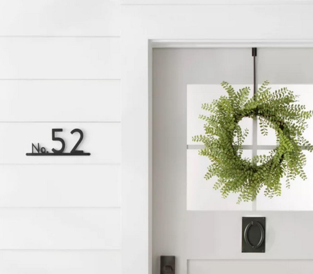 Modern farm house numbers