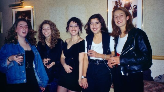 teenage girls at a party in the 1990s