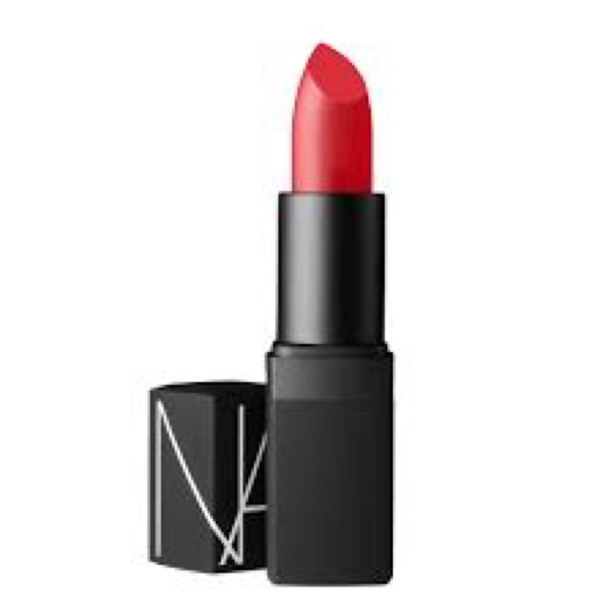 Poppy red NARS lipstick with cap off