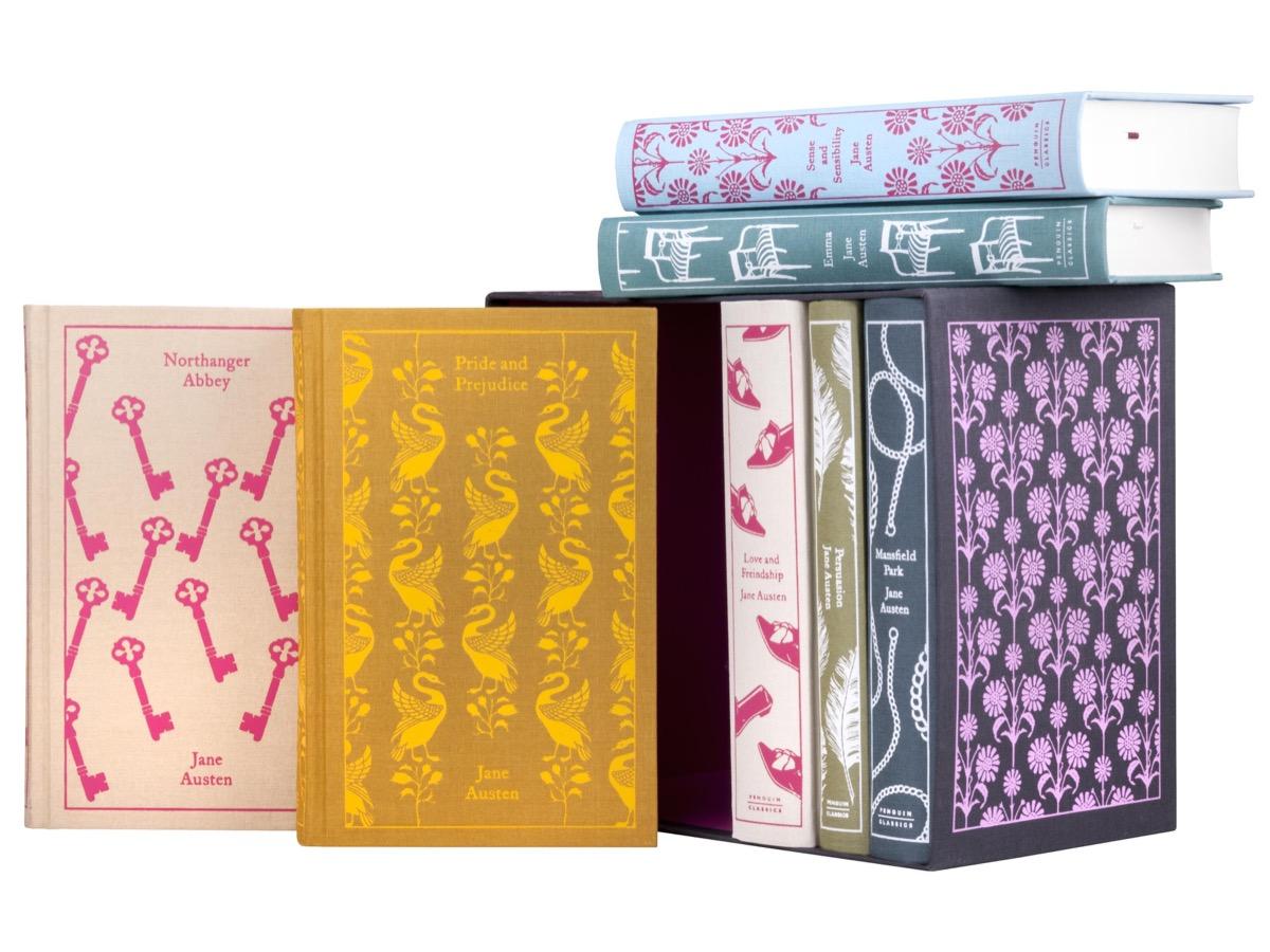 Colorful clothbound book box set