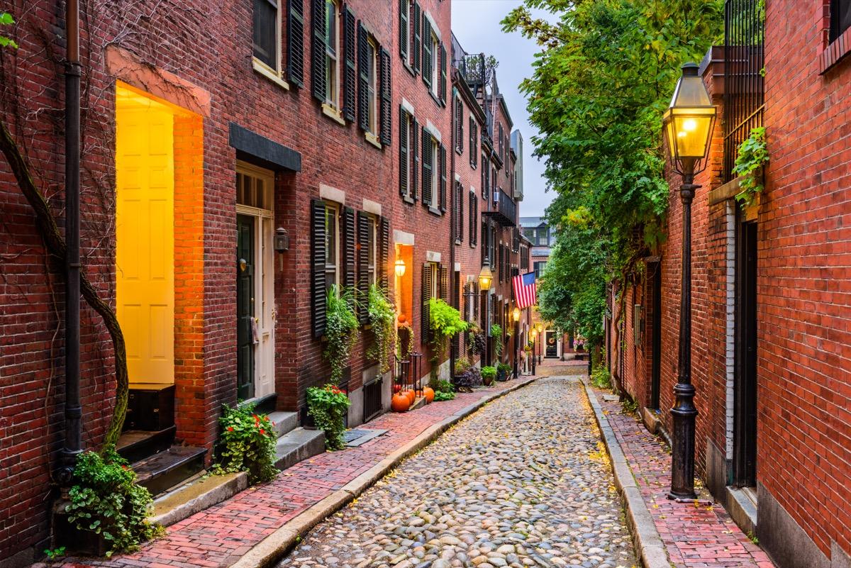 stone road in boston