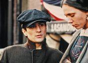 Young Robert De Niro on the set of The Godfather Part II