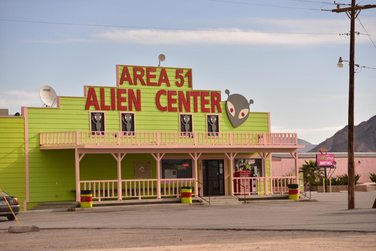 alien travel center near area 51 nevada