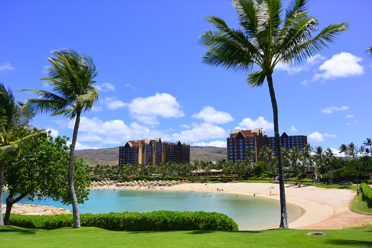 pictures of Aulani disney resort from the beach