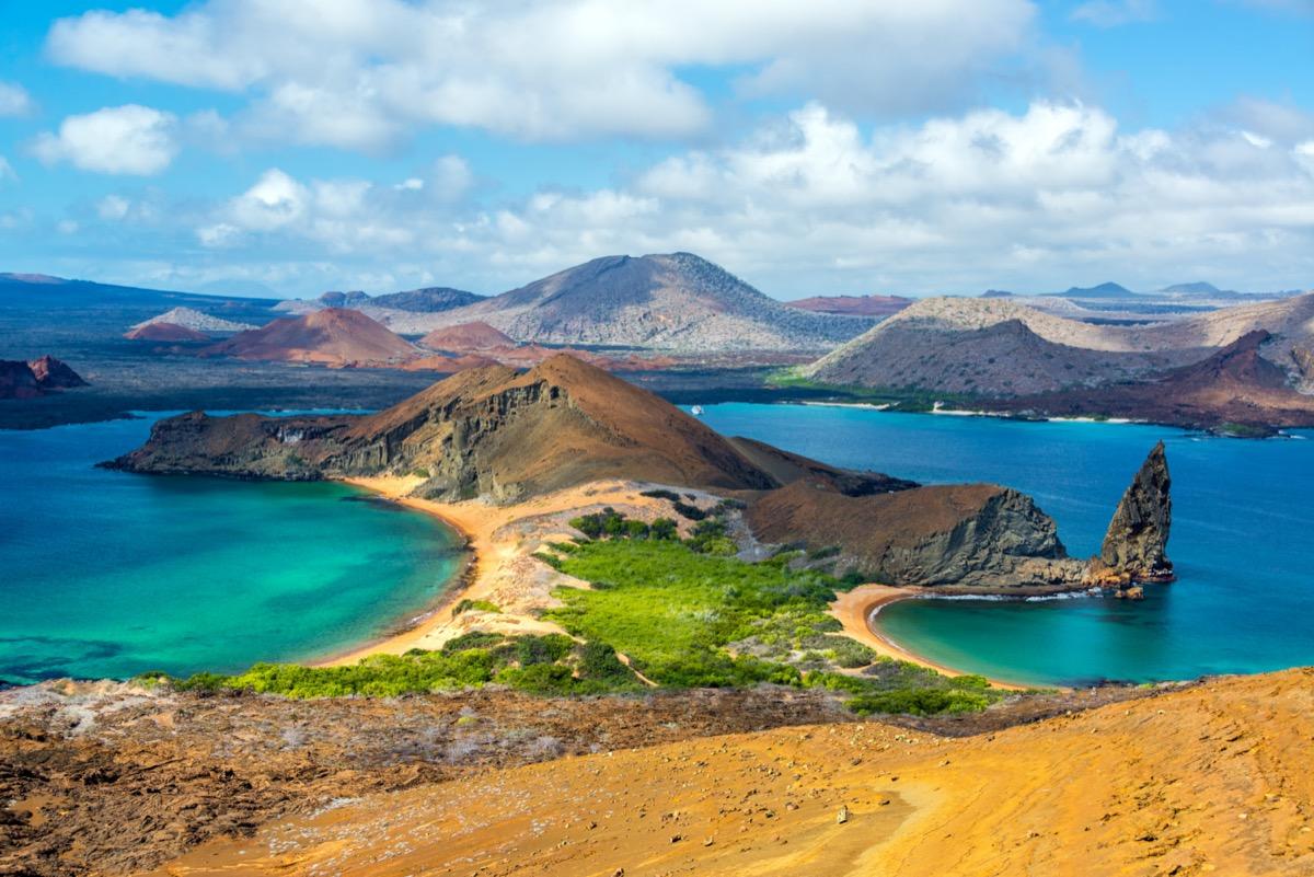the two beaches of bartolome island galapagos islands ecuador