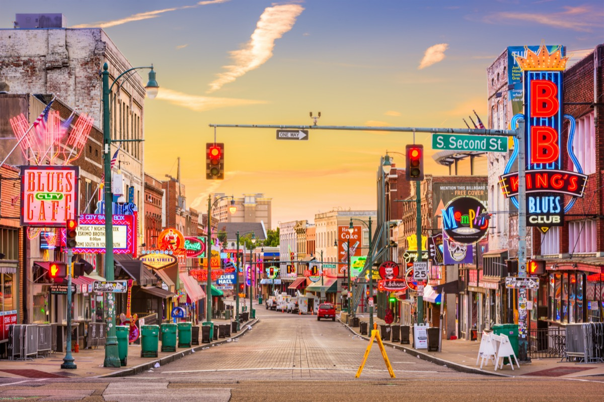 centered view of beale street memphis affordable vacations
